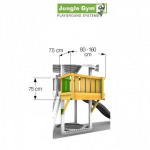 Skizze: Anbaumodul Balkon für Spieltürme von Jungle Gym