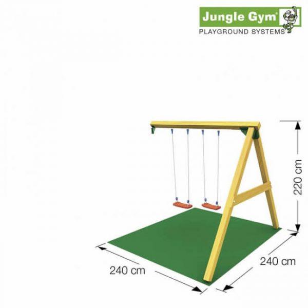 Skizze Anbauschaukel @swing von Jungle Gym