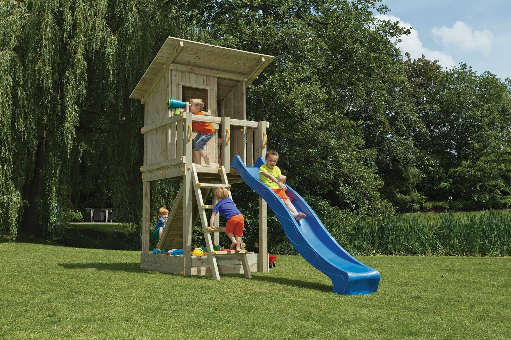 Extrem Blue Rabbit Spielturm Beach Hut 150 cm Podesthöhe - Spiel und Garten FE99