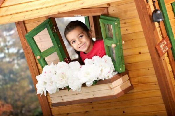 Blumenkasten als Zubehör für Spielhäuser