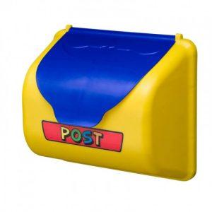 Gelber Briefkasten als Zubehör für Spieltürme