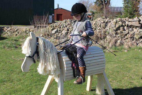Kindergartenpferd Lotte zum Spielen im Garten