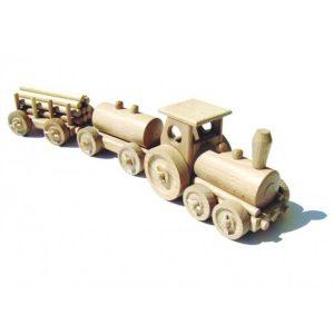 Holzspielzeug Güterzug