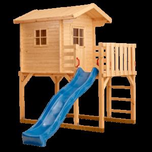 Kinderspielhaus auf Stelzen mit Balkon