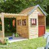 Kinderspielhaus XL mit Veranda zum Spielen