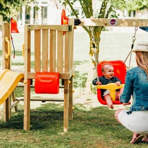 Babyturm für Kleinkinder mit Schaukel und Rutsche