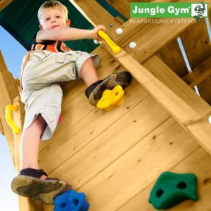 Klettersteine am Jungle Gym Spielturm