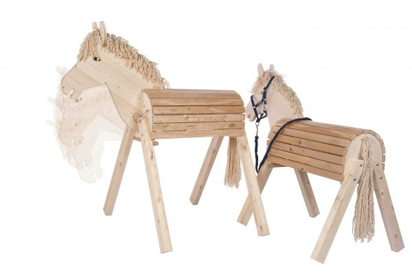 Gartenpferd mit bewegbarem Kopf (Susi und Tamme)