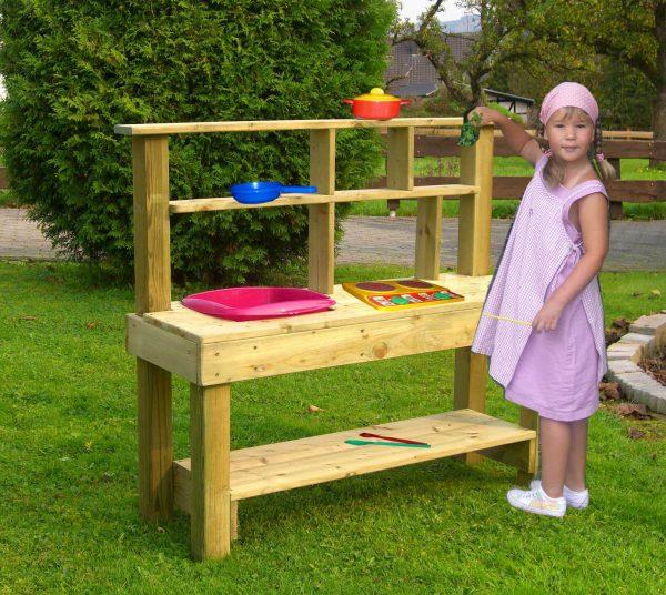 Outdoor-Matschküche für Kinder aus Holz