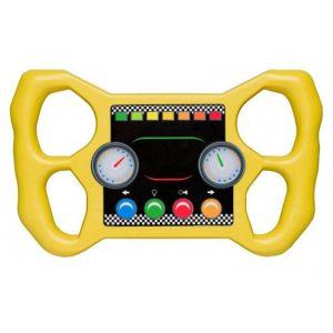 Gelber Rennlenker als Zubehör für Spieltürme
