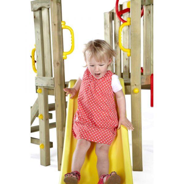 Kleinkinderturm mit gelber Rutsche