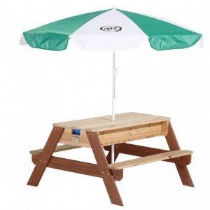 Sand Wassertisch für den Garten mit Sonnenschirm