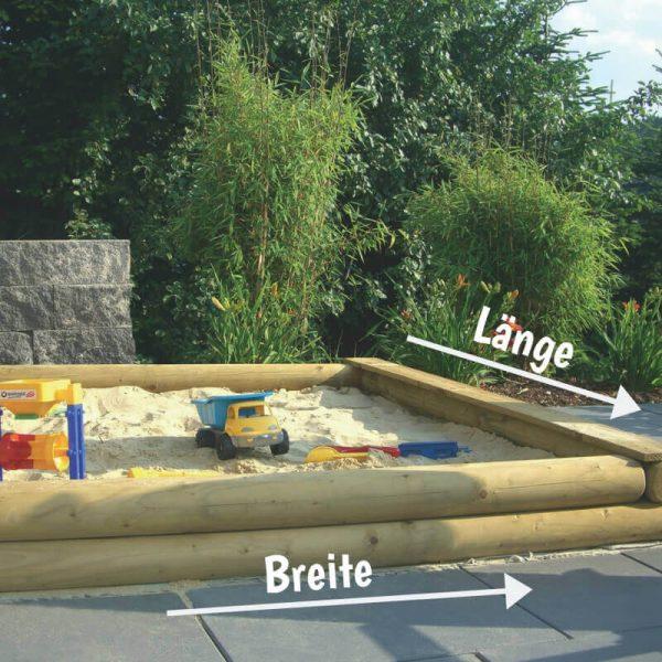 Sandkasten-Konfigurator: Individuellen Sandkasten nach Maß gestalten