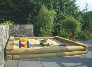 Individueller Sandkasten aus Holz - Sandkasten-Konfigurator
