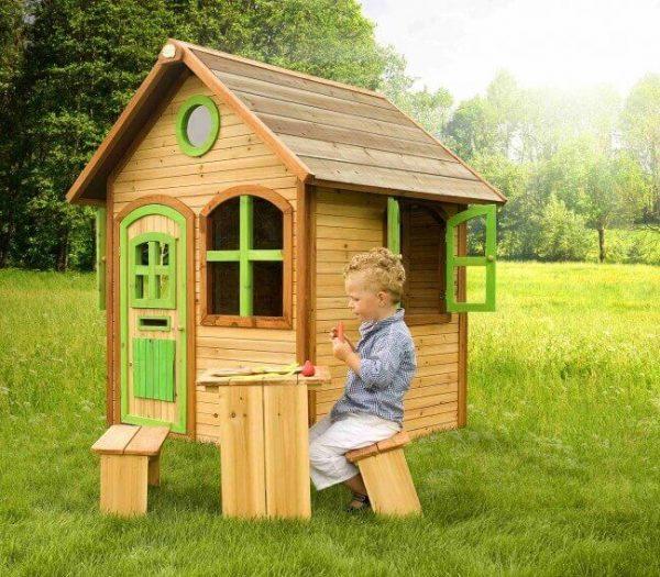 Kinderspielhaus Julia mit Sitzbank