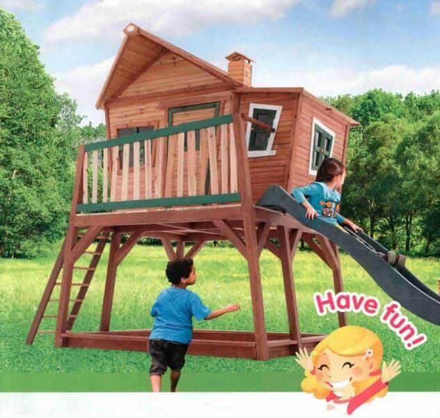 Gut gemocht AXI Spielhaus Max inkl. Rutsche - Stelzenhaus für den Garten XT11