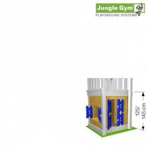 Skizze Spielhausmodul 145 cm von Jungle Gym