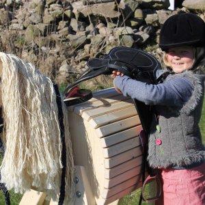 Spielpferd Lotte aus Holz für den Garten