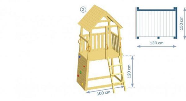 Spielturm Belvedere 120 von Blue Rabbit - Skizze