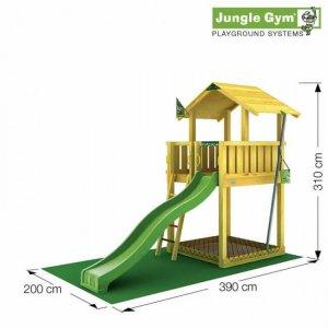 Skizze Spielturm Chalet von Jungle Gym