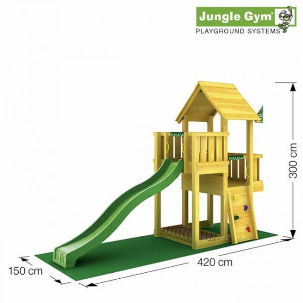 Skizze Spielturm Cubby von Jungle Gym