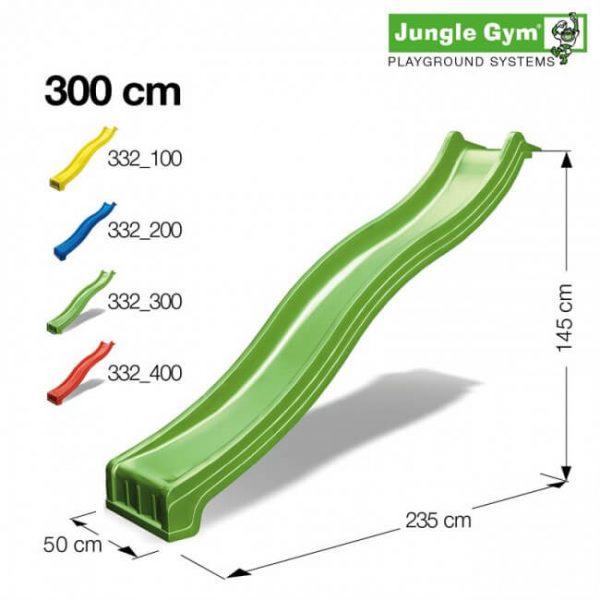 Lange bunte Rutsche (300 cm) von Jungle Gym