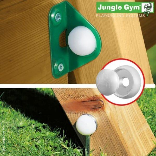 Spieltürme von Jungle Gym - Nahaufname Stütze