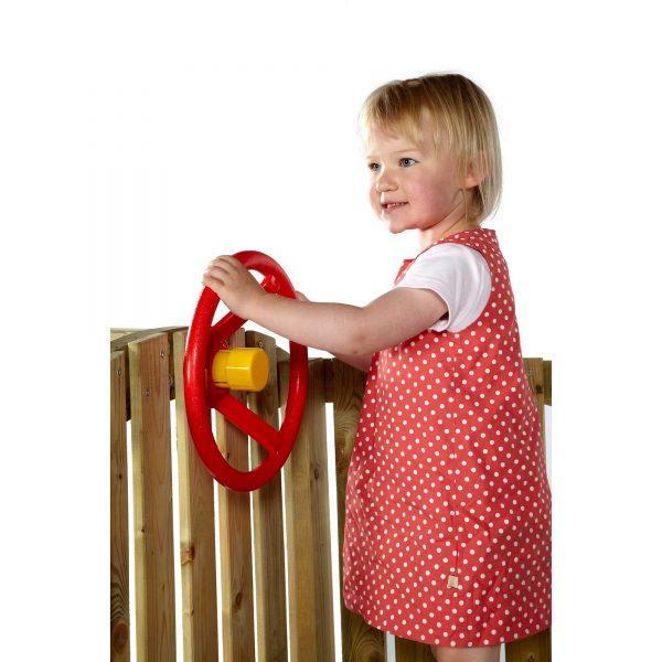 Rotes Steuerrad für Kleinkinderturm