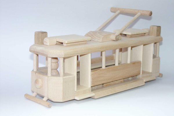 Holzspielzeug Straßenbahn für Kinder