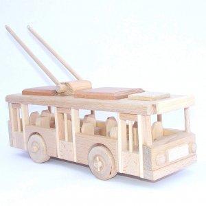 Holzspielzeug Trolleybus für Kinder