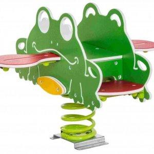 Federwippgerät Frosch für den Garten und Spielplatz