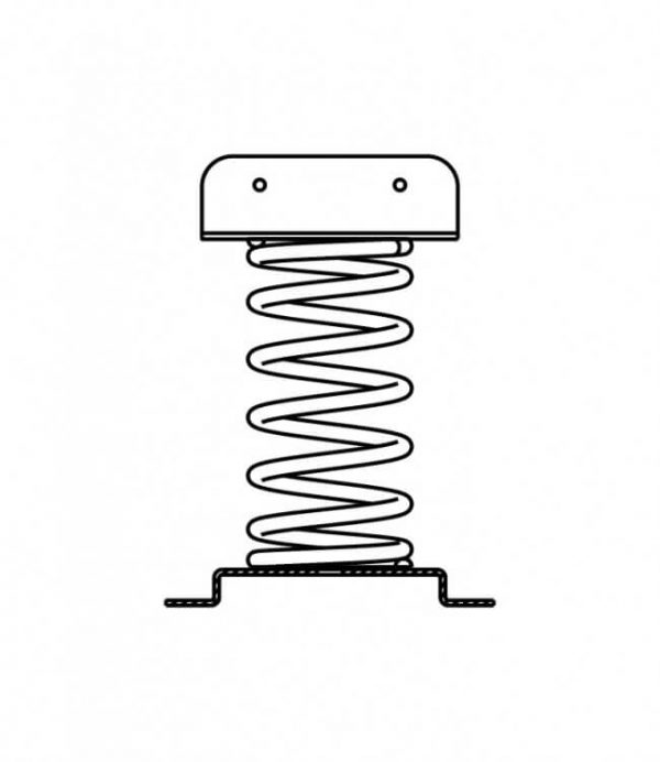 Federwippgerät Zeichnung