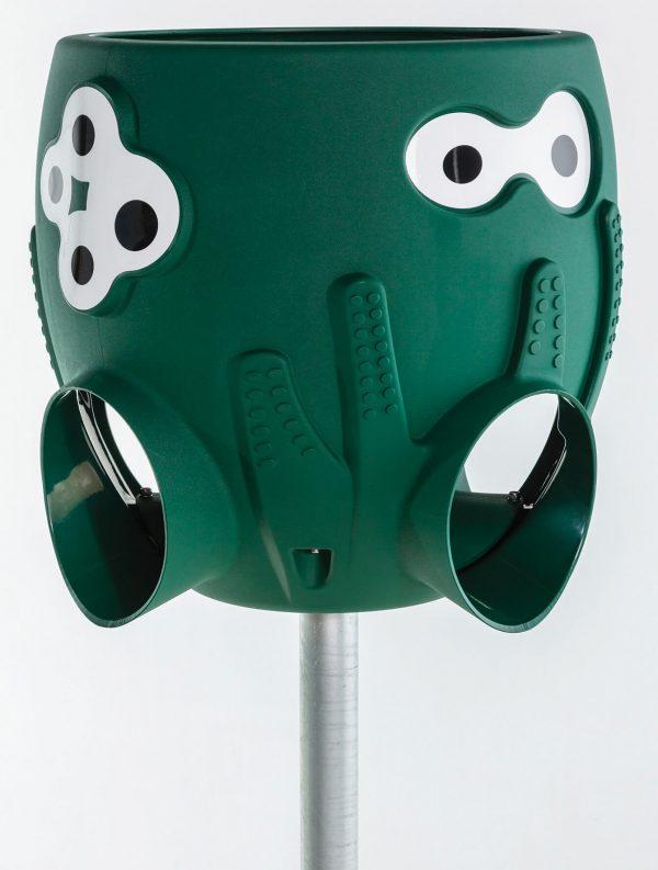 Ballkorb Octupus geprüft nach EN 1176 in grün mit Ständer
