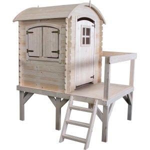 Kinderspielhaus Lissi aus unbearbeitetem Holz