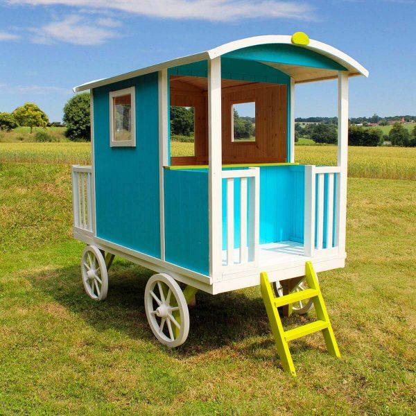 Kinderspielhaus auf vier Rädern bunt - Zirkuswagen oder Planwagen